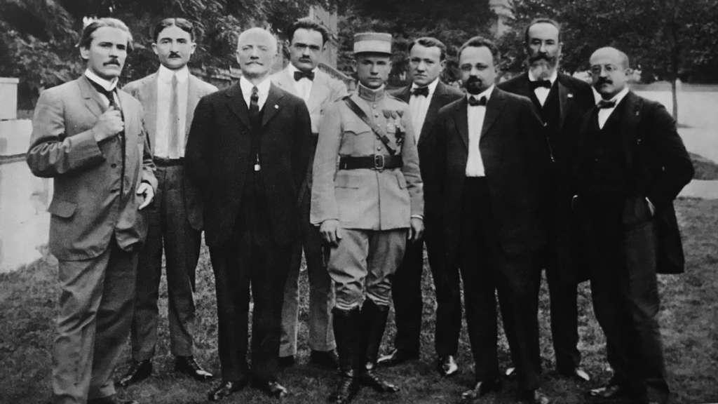 Štefánik s krajanmi vo Washingtone v roku 1917, zdroj: Štefánik vo fotografii, 1938